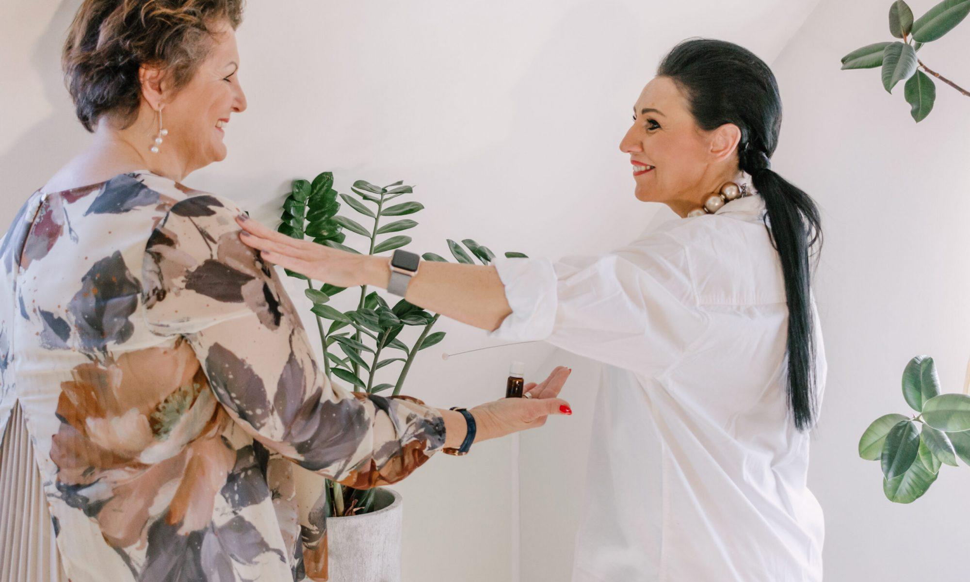 Sonja Simonitsch während der Behandlung